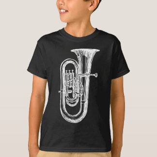 T-shirt Tuba blanc