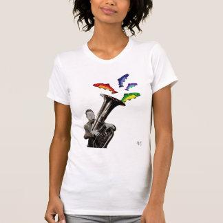 T-shirt Tuba et poissons