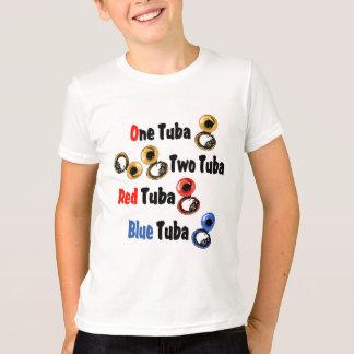 T-shirt Tuba rouge de bleu de tuba