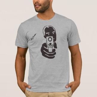 T-shirt Tube de canon, charbon de bois