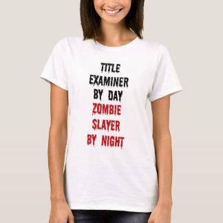 T-shirt Tueur de zombi d'examinateur de titre