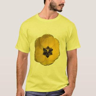 T-shirt Tulipe jaune sur la taille bronzage de la chemise