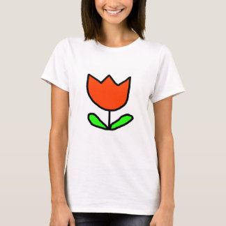 T-shirt Tulipe rouge