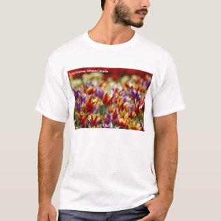 T-shirt Tulipes multicolores