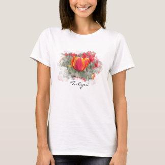 T-shirt Tulipes rouges et jaunes