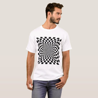 T-shirt tunnel carré checkered de 2 couleurs