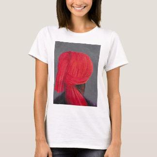 T-shirt Turban rouge sur le gris 2014