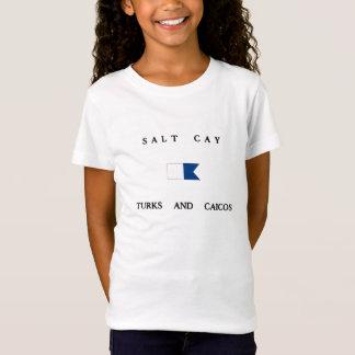 T-Shirt Turcs de banc de sable de sel et alpha drapeau de