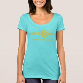 T-shirt turquoise T de worldOne