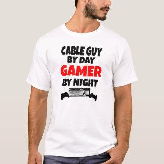 T-shirt Type de câble de Gamer