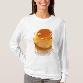 T-shirt Type de caramel de crème de pudding avec le