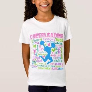 T-Shirt Typographie Cheerleading en pastel de mots