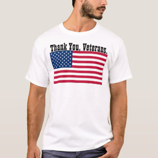 "T-shirt U.S.A. - ""Merci, vétérans. """