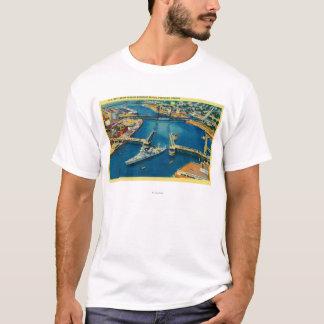 T-shirt U.S. Cuirassé passant par Portland