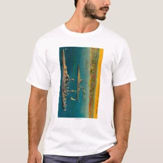 T-shirt U.S. Cuirassés ancrés à Long Beach