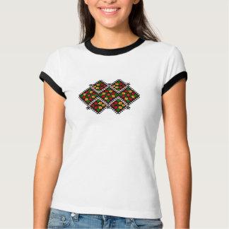 T-shirt ukrainien détaillé de style de broderie