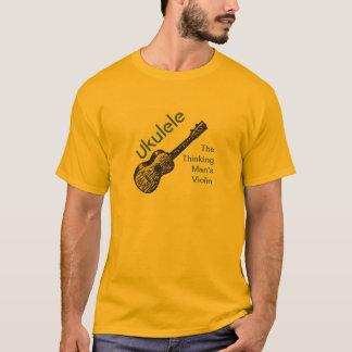 T-shirt Ukulélé - le violon de l'homme de pensée