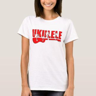T-shirt ukulélé rouge