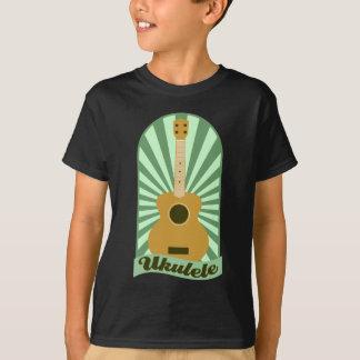 T-shirt Ukulélé verte de rayon de soleil