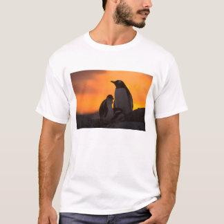 T-shirt Un adulte et un poussin de pingouin de gentoo se