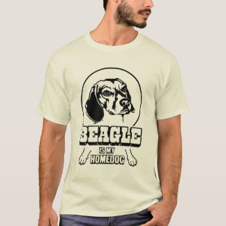 T-shirt Un beagle est mon Homedog