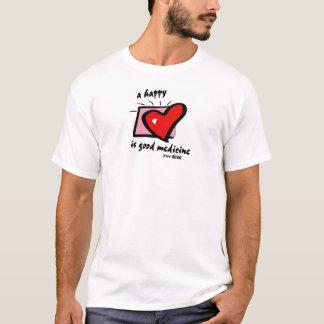 T-shirt un coeur heureux est bonne médecine. 17h22 de Prov