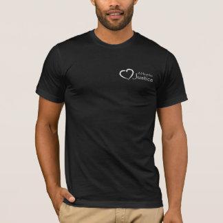T-shirt Un coeur pour la chemise de justice (hommes)