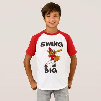 T-shirt Un coup pour vous pièce en t de base-ball