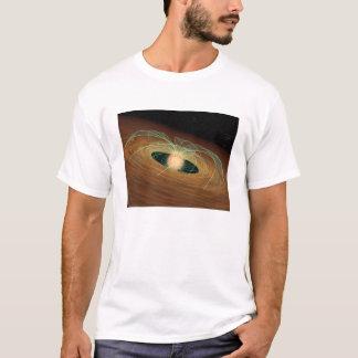 T-shirt Un disque de planète-formation poussiéreux en