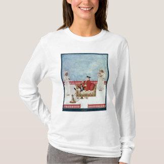 T-shirt Un Européen assis sur une terrasse avec des