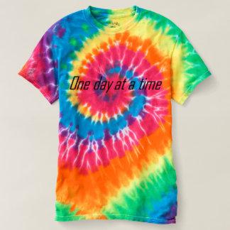 T-shirt Un jour à la fois encourageant le dessus
