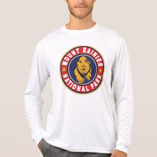 T-shirt Un logo rouge plus pluvieux de cercle de Mt