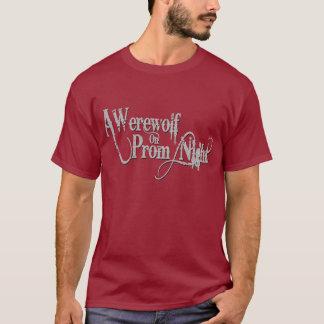 T-shirt Un loup-garou sur le gris Wordmark de bal de promo