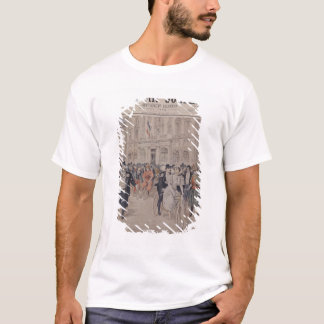T-shirt Un mariage sur une bicyclette