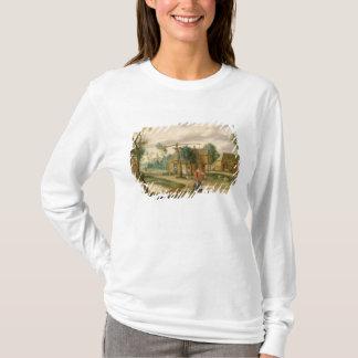 T-shirt Un paysage de village