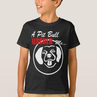 T-shirt Un pitbull m'a secouru.
