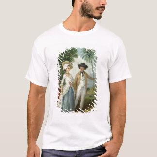 T-shirt Un planteur et son épouse, servis par un employé,