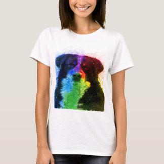 T-shirt Un plus grand bloc de couleur de chien de montagne