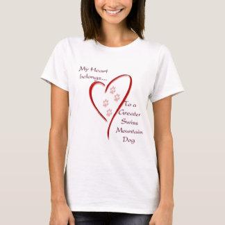 T-shirt Un plus grand coeur suisse de chien de montagne