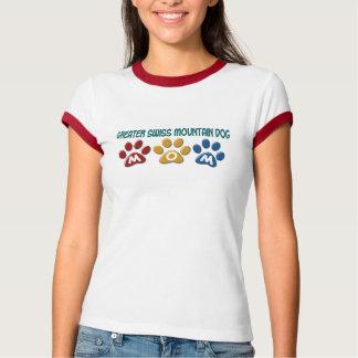 T-shirt Un PLUS GRAND empreinte de patte SUISSE 1 de maman