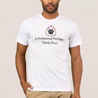 T-shirt Une charité professionnelle de garde d'enfants