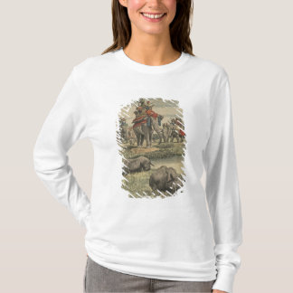 T-shirt Une chasse à rhinocéros en l'honneur du Roi George
