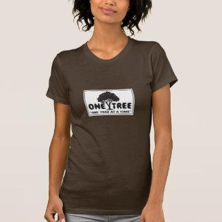 T-shirt Une chemise classique de la femme de logo d'arbre