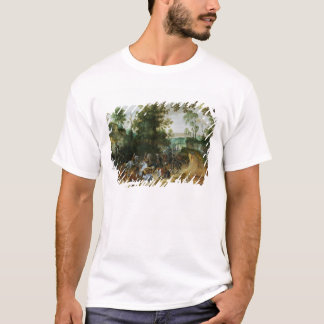 T-shirt Une colonne de cavalerie a attiré dans un