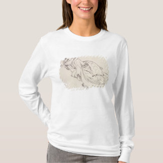 T-shirt Une courtisane offrant une tasse, 18ème-19ème