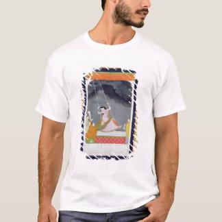 T-shirt Une dame sur une oscillation, Kangra, collines