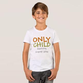 T-shirt Une expiration plus ancienne d'enfant unique