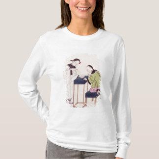 T-shirt Une fille recherchant la chance dans une cuvette