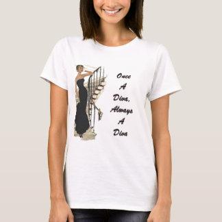 T-shirt Une fois une diva, toujours une diva