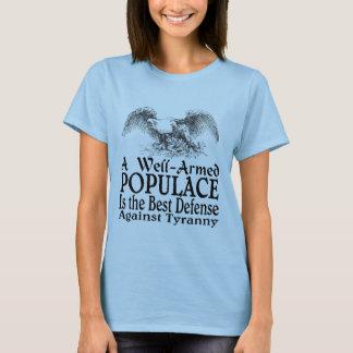 T-shirt Une foule bien armée est la meilleure défense